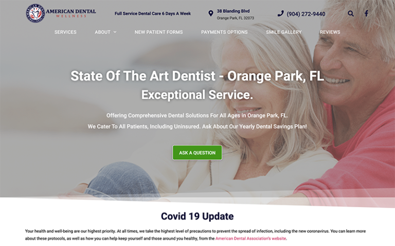 American Dental Wellness website by Purge Marketing