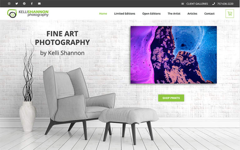 Kelli Shannon Photography website by Purge Marketing