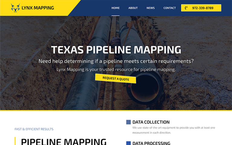 Lynx Mapping Website by Purge Marketing