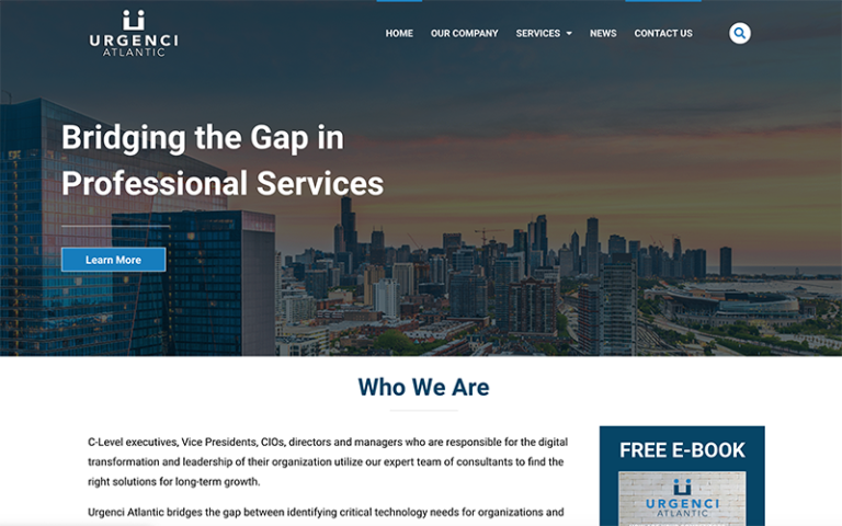Urgenci Atlantic website by Purge Marketing