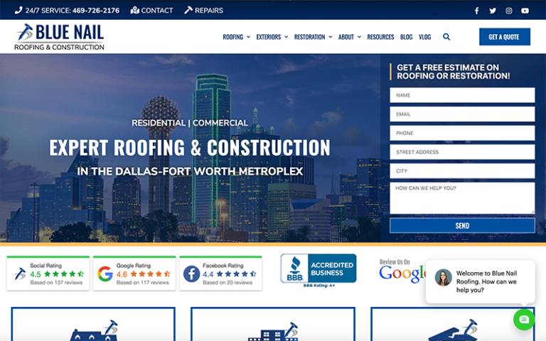Blue Nail Website by Purge Marketing